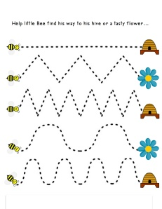 Bee tracing game